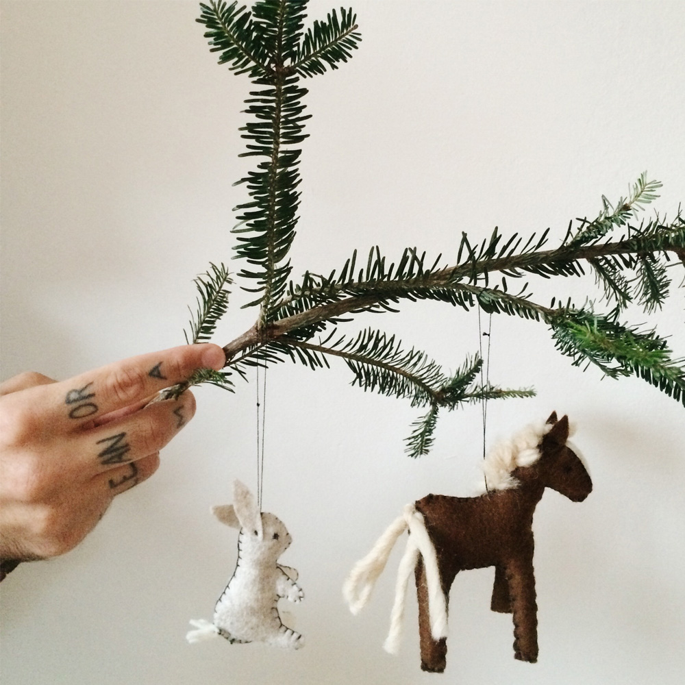 This is how you make your own DIY felt animal ornaments_2